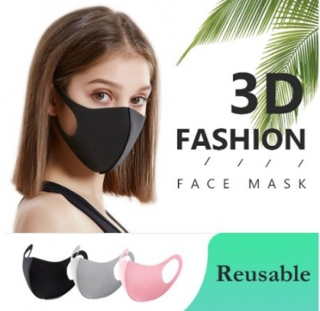 "Waschbare Community-Gesichtsmaske ""Breathe Smootly"" 3 er Set"